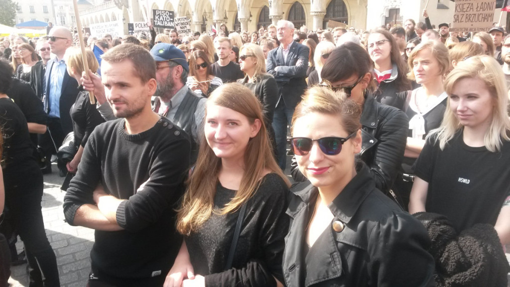 czarny protest krakow